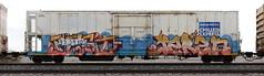 Pest/Jared (quiet-silence) Tags: graffiti graff freight fr8 train railroad railcar art pest jared armn reefer unionpacific chilledexpress e2e endtoend