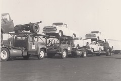 Fords: Hadley #s542 & 543 (PAcarhauler) Tags: ford mack carcarrier semi truck tractor trailer