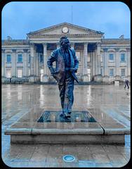 Huddersfield icons (David JP64) Tags: statue harold wilson primeminister huddersfield train station st georges square