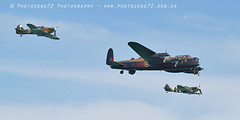 8849 BBMF PZ865 AB910 Lanc Spitfire hurricane (photozone72) Tags: eastbourne airshows aircraft airshow aviation raf canon canon7dmk2 canon100400f4556lii 7dmk2 bbmf rafbbmf lancaster avro spitfire hurricane props warbirds wwii ab910 pz865