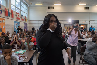 MMB Surprises Third Grade Teacher at Amidon-Bowen with 2019 DC Teacher of the Year Award