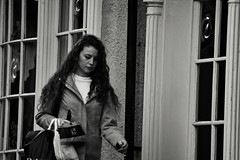 Shopping (Bury Gardener) Tags: monochrome mono burystedmunds bw blackandwhite britain suffolk streetphotography street streetcandids snaps strangers candid candids people peoplewatching folks 2018 nikond7200 nikon england eastanglia uk abbeygatestreet