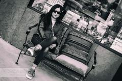 52 Week for 2019 - Week 1 - Sitting (Cesar - 32photos) Tags: monochromatic bw blackwhite monochrome outdoor nikon nikond300 nikkor50mm nikkor 50mm girl urban street streetphotography smile 2019 52weeks