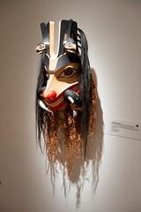 Seawolf and killer whale mask (quinet) Tags: 2017 2018 aboriginal aborigène audain audainmuseum britishcolumbia canada firstnations indian jaysimeon kunst northwest schnitzerei ureinwohner whistler art carving museum musée native sculpture