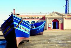 restaurant du port (francesco scaramella) Tags: boats maroc morocco