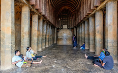 GSCF9058 (Deepak Kaw) Tags: caves buddhist people architecture composition fujifilm culture