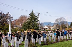 20181111_0028_1 (Bruce McPherson) Tags: brucemcphersonphotography centumcorpora remembranceday armistice brassband 100piecebrassband livemusic bandmusic brassmusic remembrance armisticeday veteransday mountainviewcemetery jones45 areajones45 commonwealthcemetery remembering honouring wargraves outdoorperformance outdoormusic vancouver bc canada thelittlechamberseriesthatcould homegoingbrassband