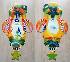 pla-creature4 (Albert_Roos) Tags: cobra pla 3d print filament colorfull colorfullsculpture animal creature wallobject
