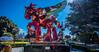 2018 - Mexico - Oaxaca - Tule Caballo Con Alas - 2 of 3 (Ted's photos - Returns late Feb) Tags: 2018 cropped mexico nikon nikond750 nikonfx oaxaca tedmcgrath tedsphotos tedsphotosmexico vignetting caballoconalas santamariadeltule tuleoaxaca sculpture blue bluesky park parkscene