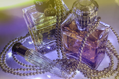 Juicy and Jazzy (lleon1126) Tags: smileonsaturday perfumebottles pearls pastels