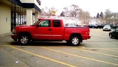 One more red pickup truck! -HTT (Maenette1) Tags: pickuptruck red parkinglot mmplaza menominee uppermichigan happytruckthursday flicker365 allthingsmichigan absolutemichigan projectmichigan