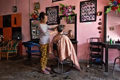 haircut (Collin Key) Tags: sulawesi indonesia ampana hairdresser pink ampanakota sulawesitengah indonesien id