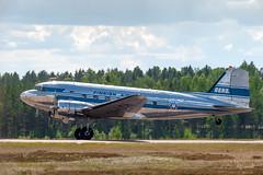 Tikkakoski_2018 (3 of 25) (mhauhia) Tags: airshow tikkakoski ilmavoimat ilmavoimat100 lentonäytös lentokone airplane airfield finland summer nikond700 sigma100300mm airveteran dc3
