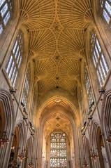 Bath Abbey - the vaulted ceiling (Baz Richardson (catching up again!)) Tags: somerset bathabbey gradeilistedbuildings englandsthousandbestchurches churches fanvaultedceilings medievalbuildings williamandrobertvertue sirgeorgegilbertscott