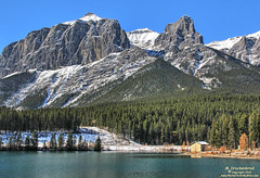 East End of Mount Rundle at Quarry Lake Park, Canmore (PhotosToArtByMike) Tags: quarrylakepark mountrundle quarrylake grassilakes canmore albertacanada alberta bowvalley canadiancity southerncanadianrockymountains canmorenordiccentreprovincialpark town city rockymountains provinceofalberta bowriver