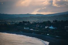 killiney (viewsfromthe519) Tags: shanganagh bay south dublin county ireland irish sea autumn fall evening clouds sky dark stormy sunset orange blue killiney