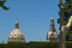 Barcelona z innej perspektywy (jacekbia) Tags: europa hiszpania espania españa spain barcelona catalunya cataluna katalonia niebieski niebo