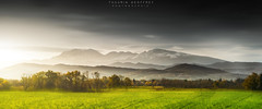 Pyrénées Landscape (Thaurin Geoffrey Photographie) Tags: france ariège midipyrénées occitanie pamiers paysage landscape sun light sunlight nature montagne moutain ciel sky nuage cloud green black white tenebre sony a7ii snow neige ombre brume love me amateur photoshop lightroom retouche