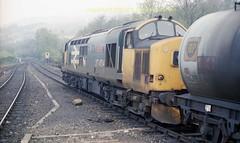 o Garelochhead 37404 nb goods 29apr87 a848 (Ernies Railway Archive) Tags: garelochheadstation westhighlandrailway nbr lner scotrail