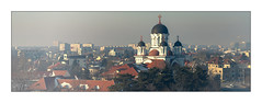 the city (Hansoul0) Tags: panorama city architecture chruch bucharest bucuresti buildings houses