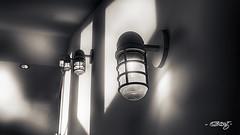 Lights And Shadows (dougkuony) Tags: lightandshadow durhammuseum hdr omahaunionstation unionstation bw blackandwhite flickrfriday lightsandshadows mono monochrome