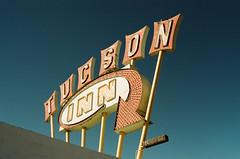 Tucson Inn (Travis Estell) Tags: miraclemile motelsign tucsononfilm tucson arizonaonfilm motel arizona kodakportra160 thedarkroomlab canonae1 tucsoninn unitedstates