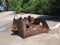 Rusting (Anita363) Tags: artifact abandoned metal steel rust rusty rusting corrosion corroded beach costarica isladelcaño