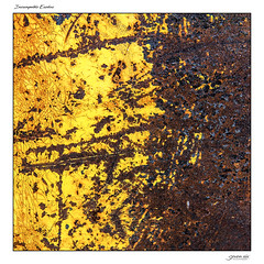 Inescapable Exodus (Danial Thiessen) Tags: seven six photography paint painted spraypaint abstract bright color colors yellow rust rusty rusted old forgotten aged weathered sony rx10iii rx10m3 cybershot outside outdoors pretty beauty beautiful closeup macro