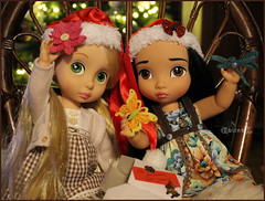 Christmas Presents 2 (BblinkK) Tags: animator disney rapunzel pocahontas doll