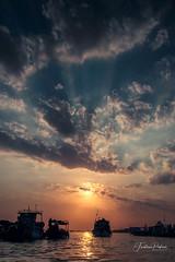 Sunrise on Mekong (fredericpecheux) Tags: sun sunrise boat bateau river fleuve mekong asie asia vietnam canon landscape happyplanet asiafavorites