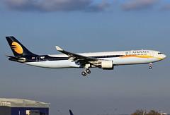 F-WWYX Airbus A330 Jet Airways (@Eurospot) Tags: vtjwu fwwyx airbus a330 a330300 1391 jetairways toulouse blagnac