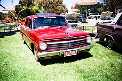 1964 Holden EH in red (Matthew Paul Argall) Tags: kodakstar500af ektar100 kodakektar100 100isofilm 35mmfilm car vehicle automobile transportation classiccar oldcar carshow redcar holden holdeneh generalmotors