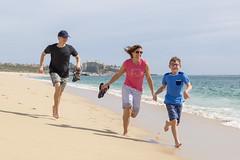 Running on the Beach (aaronrhawkins) Tags: beach running family boys mom loscabos cabosanlucas vacation warm sand sandy healthy run race seaofcortez ocean sea pacific mexico fun kellie jackson joshua aaronhawkins