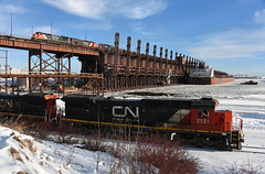 Everything all at once (CN Southwell) Tags: cn canadian national duluth mn docks ore winter ship tug boat tugboat over under