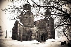 Black church (anatoliimalikov) Tags: church orthodoxal bw religion architecture armenia travel chapel ancient old christian tree branch