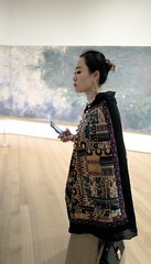 L1080394 (christy.hunter) Tags: moma monet nyc ny art photography candid leica 28mm f17 impressionist multiplemedia asianlady beautiful iphone hand