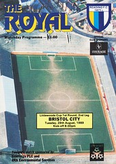 Reading vs Bristol City - 1989 - Cover Page (The Sky Strikers) Tags: reading bristol city the royal elm park littlewoods cup road to wembley matchday programme one pound