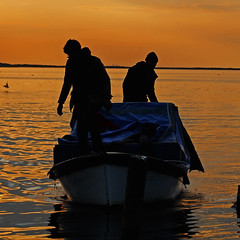 Return of fishermen 2 (deryasenturk1) Tags: sea boat fishing fishermen sunset silhouette
