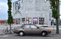 1987 Nissan Sentra (stephen trinder) Tags: stephentrinder stephentrinderphotography aotearoa kiwi landscape thecarsofchristchurch thecarsofchristchurchnewzealand christchurchcars christchurchnewzealand godzone 1987 nissan sentra streetart mural