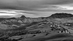 A Canossa! (drugodragodiego) Tags: canossa reggioemilia emiliaromagna landscape paesaggio castle castello blackandwhite blackwhite bw biancoenero fujifilm fujifilmx100t greatphotographers