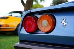 Ferrari 308 GTB in detail (Eric Flexyourhead) Tags: surrey britishcolumbia bc canada southsurrey crescentbeach crescentbeachconcoursdelegance 2018 car detail fragment italian ferrari 308gtb ferrari308gtb taillights blue shallowdepthoffield sonyalphaa7 zeisssonnartfe55mmf18za zeiss 55mmf18