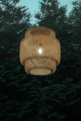 Hover Lamp (Behni88) Tags: hover waving flying schwebend ghost geist duch latająca lampa lamp lampe tuja green light dark front window reflection fenster reflekcja sky blue zielony grun blau niebieski gluehbirne bulb zarowka plecionka basket korb verte gronn licht swiatlo