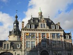 Bourse and Belfry, late afternoon, Namur, Belgium (Paul McClure DC) Tags: belgium belgique wallonie wallonia feb2018 namur namen ardennes historic architecture