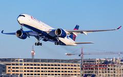 MSP N507DN (Moments In Flight) Tags: minneapolisstpaulinternationalairport msp kmsp mspairport aviation avgeek airbus airliner a350 a359 a350941 n507dn deltaairlines delta mspatl icnmsp brakedust