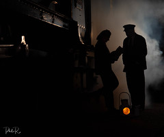 Brief Encounter (PhilR1000) Tags: didcotrailwaycentre timelineevents railway locomotive steam people silhouette