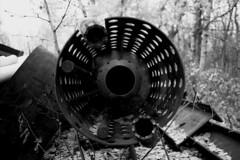 Scrap (Pics from the Bird Cage) Tags: canon 35mm bw blackwhite argentique hp5 ilford ilfosol av1 outdoors sanwa ardrossan alberta film ishootfilm canonav1 sanwa28mmf28 classiccamera analog ardrossanalberta ilfosol3 ilfordhp5plus400 bulkfilm camera blackandwhite monochrome rain rainyday rainy scrapiron rust