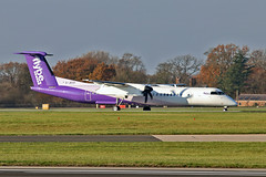 G-JECP DHC-8Q 402 Flybe MAN 18-11-18 (PlanecrazyUK) Tags: egcc manchester ringway manchesterairport gjecp dhc8q402 flybe man 181118