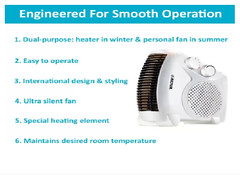 All in One Silent Blower Fan Room Heater (mywowstuff) Tags: gifts gadgets cool family friends funny shopping men women kids home
