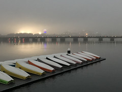 Boats ready for winter (hansntareen) Tags: fenwaypark water rivercharles massavebridge boston fog weather