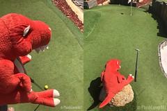 Rexy Dean plays Mini golf (plushloverau) Tags: dinosaur plush plushie collection stuffed animals toy toys cuddle trex animal alley r us lover au plushloverau perth ellenbrook swan valley vines
